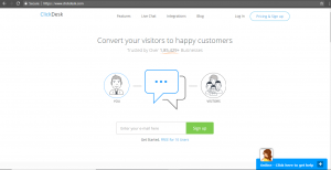 Clickdesk customer support tool